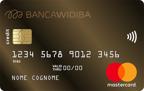 Carta Oronero Mastercard Banca Widiba - Cartadicreditoconfronto.it